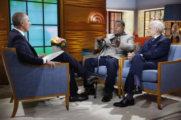 TODAY -- Pictured: (l-r) Matt Lauer, Tracy Morgan, and Benedict Morelli appear on NBC News'' ''Today'' show on Monday, June 1, 2015 -- (Photo by: Peter Kramer/NBC)