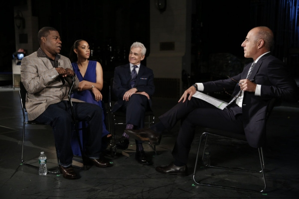 NBC NIGHTLY NEWS -- Pictured: (l-r) Tracy Morgan, Megan Wollover, Benedict Morelli, and Matt Lauer appear on ''NBC Nightly News'' on Monday, June 1, 2015 -- (Photo by: Peter Kramer/NBC)
