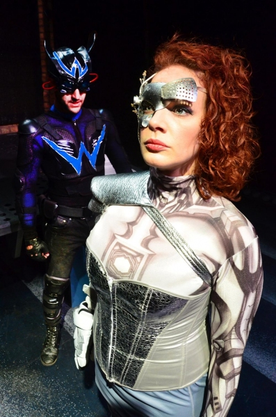 Tommy Malouf as Blackwolf and Christina Hall as Fatale