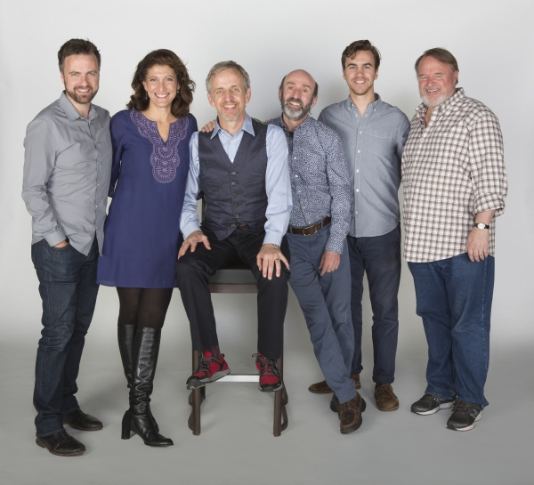 Manoel Felciano, Amy Aquino, Robert Joy, Patrick Kerr, Daniel Petzold, and Tom McGowa Photo