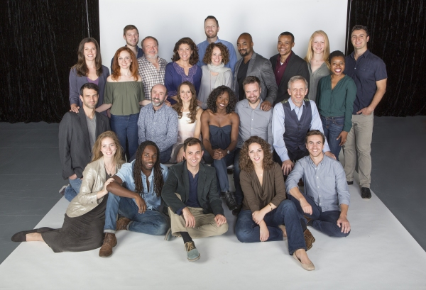 Director Rebecca Taichman and composer Todd Almond (back row, center) with the cast of The Old Globe''s 2015 Summer Shakespeare Festival production of TWELFTH NIGHT