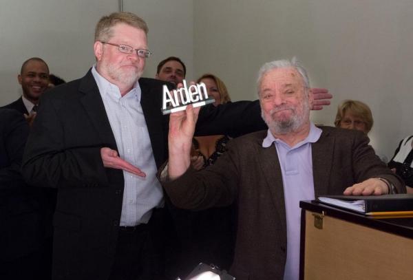 Arden Theatre Company''s Producing Artistic Director Terrence J. Nolen with Stephen Sondheim
