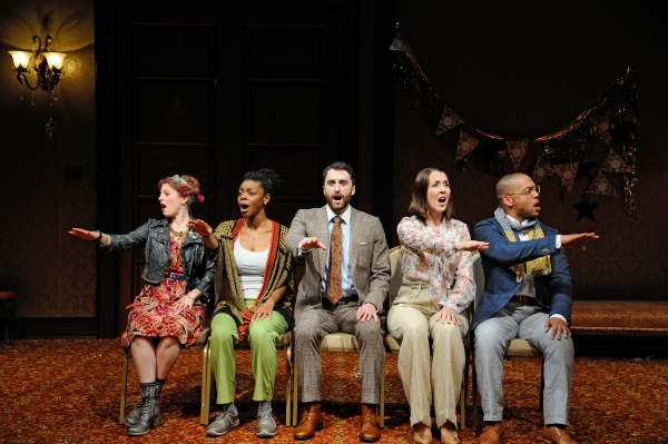 Rebecca Gibel as Frances, Mia Ellis as Joan, Charlie Thurston as Frank, Rachael Warren as Tilly and Joe Wilson, Jr. as Lorenzo