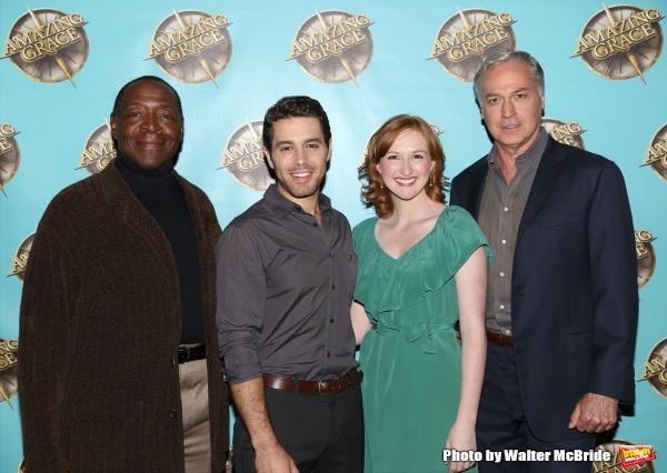 Chuck Cooper, Josh Young, Erin Mackey and Tom Hewitt