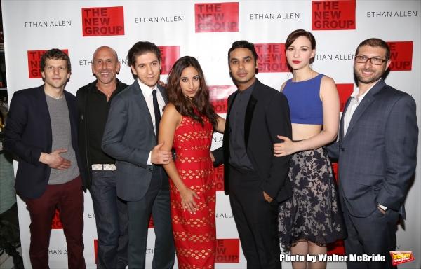 Jesse Eisenberg, Scott Elliott, Michael Zegen, Annapurna Sriram, Kunal Nayyar, Erin Drake and Adam Bernstein