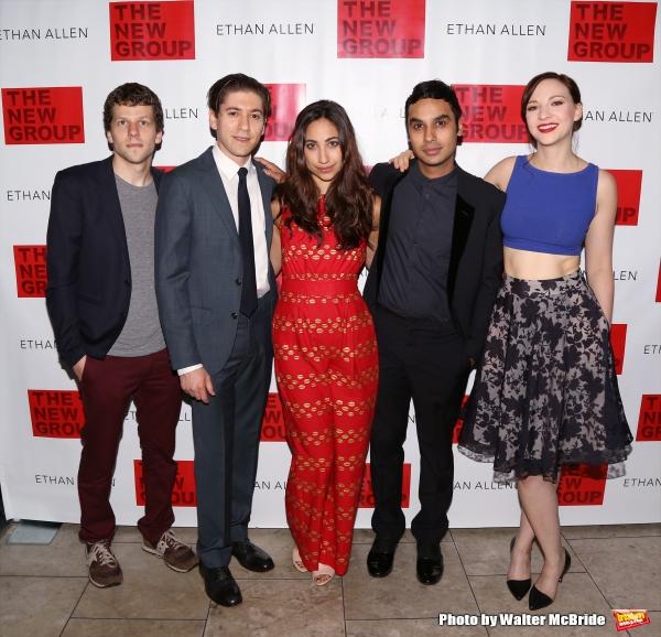 Jesse Eisenberg, Michael Zegen, Annapurna Sriram, Kunal Nayyar and Erin Drake