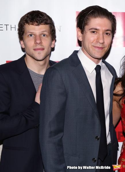 Jesse Eisenberg and Michael Zegen