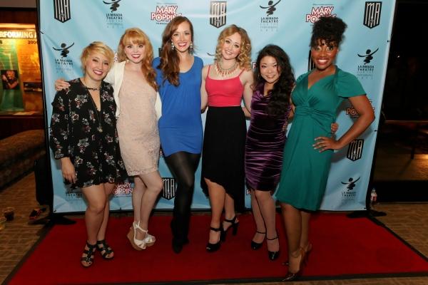 Actresses Kat Borrelli, Natalie MacDonald, Christine Tucker, Devon Hadsell, Momoko Sugai, and Joel Rene