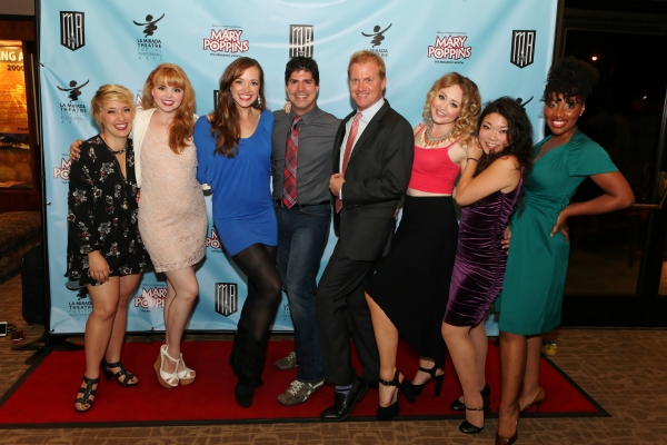 Actresses Kat Borrelli, Natalie MacDonald, Christine Tucker, choreographer Paul Rubin, Executive Producer Tom McCoy and actresses Devon Hadsell, Momoko Sugai, and Joel Rene
