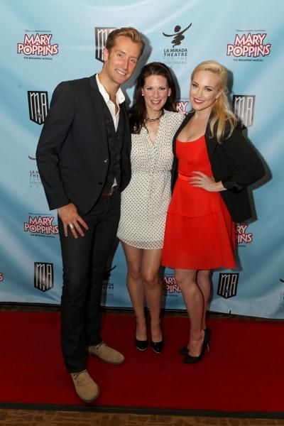 Actors Leigh Wakeford, Shannon Warne, and Brandi Burkhardt