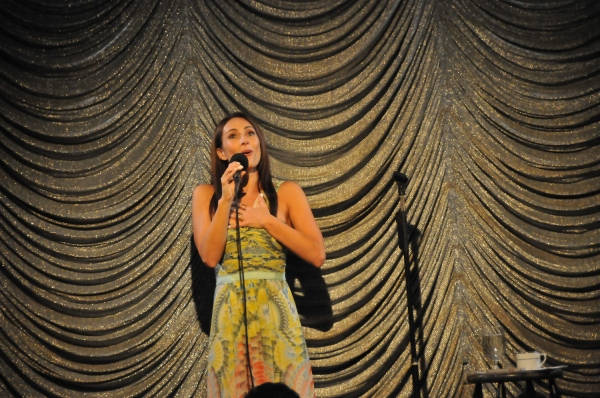 Special guest star Laura Benanti serenades the audience