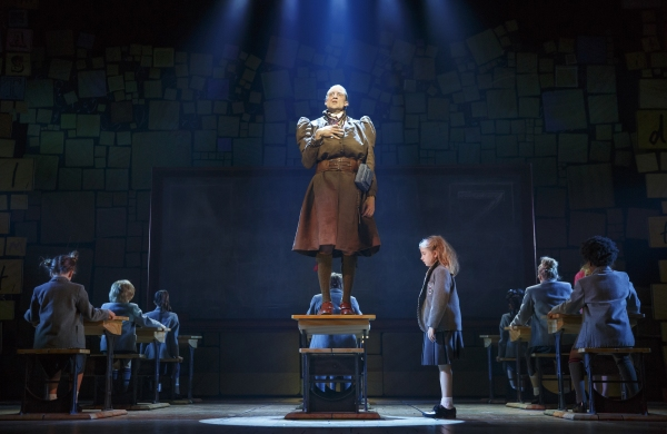 Bryce Ryness and Mabel Tyler with the Company of MATILDA THE MUSICAL First National Tour