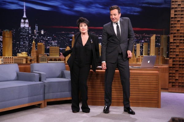 Chita Rivera and host Jimmy Fallon