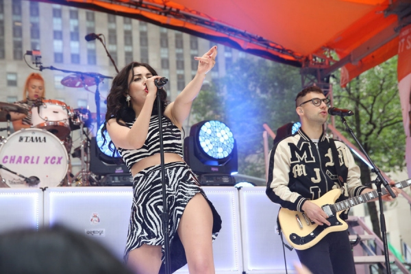 TODAY -- 06/05/2015 -- Pictured: (l-r) Charlie XCX, Jack Antonoff -- (Photo by: Paul Zimmerman/NBC)