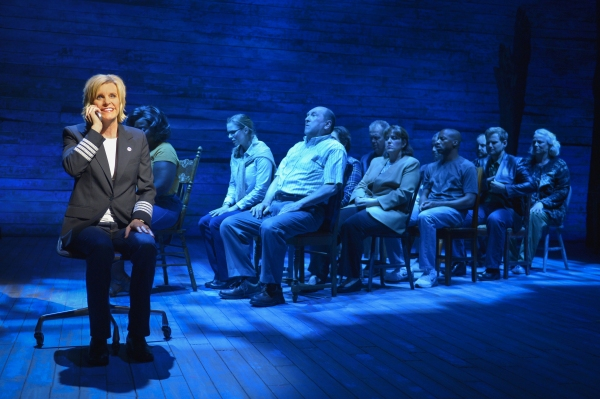 Jenn Colella (left) and the cast of La Jolla Playhouse''s world-premiere musical COME FROM AWAY