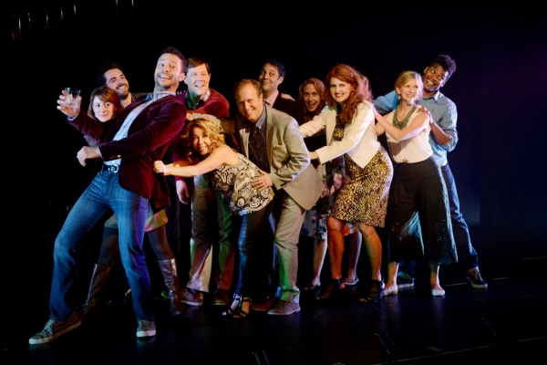 Justin Guarini and the cast of COMPANY