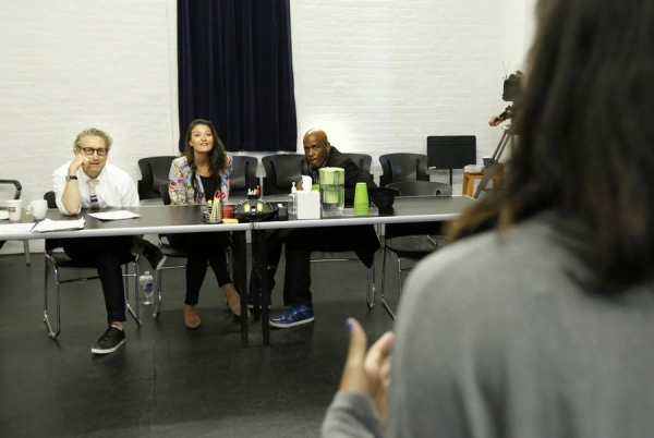 THE WIZ LIVE! -- ''Open Auditions in New York City on Saturday June 6, 2015'' -- Pictured: (l-r) Bernie Telsey, NY Vice President CSA; Abbie Brady-Dalton, CSA; Kenny Leon, Director -- (Photo by: Peter Kramer/NBC)