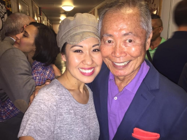 Ruthie Ann Miles and George Takei