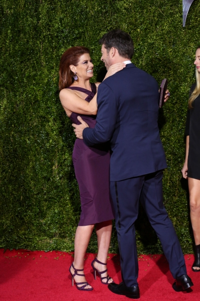 Debra Messing and Harry Connick Jr.