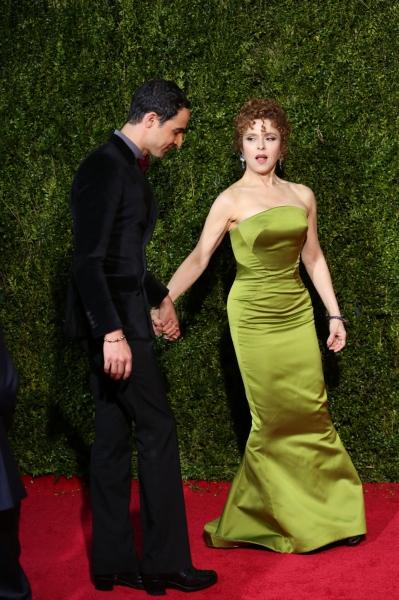 Zac Posen and Bernadette Peters