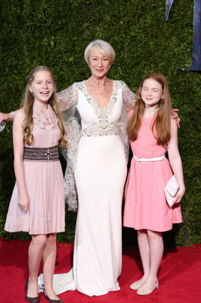 Dame Helen Mirren and family