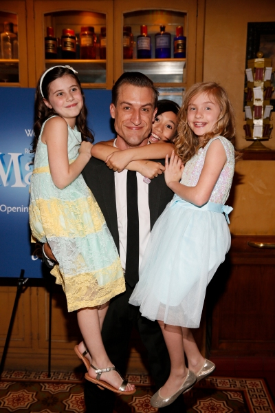 LOS ANGELES, CA - JUNE 7: (L-R) Cast members Mia Sinclair Jenness, Bryce Ryness, Gabby Gutierrez and Mabel Tyler pose during the party for the opening night performance of ''Matilda The Musical'' at Center Theatre Group/Ahmanson Theatre on June 7, 2015, i