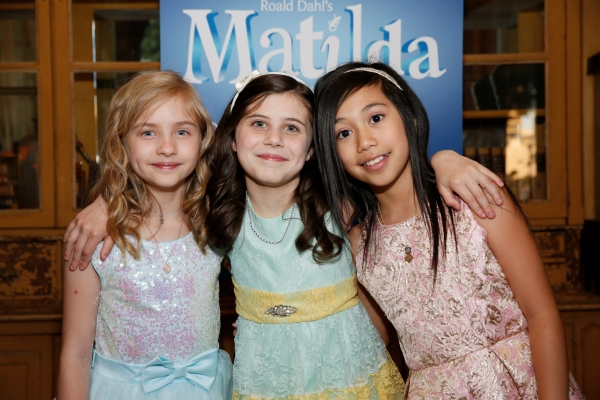 LOS ANGELES, CA - JUNE 7: (L-R) The Matildas - Mabel Tyler, Mia Sinclair Jenness and Gabby Gutierrez pose during the party for the opening night performance of ''Matilda The Musical'' at Center Theatre Group/Ahmanson Theatre on June 7, 2015, in Los Angele