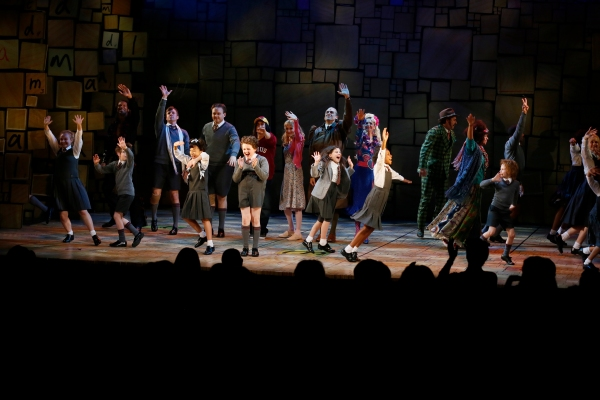LOS ANGELES, CA - JUNE 7:  The cast during the curtain call for the opening night performance of ''Matilda The Musical'' at Center Theatre Group/Ahmanson Theatre on June 7, 2015, in Los Angeles, California. (Photo by Ryan Miller/Capture Imaging)