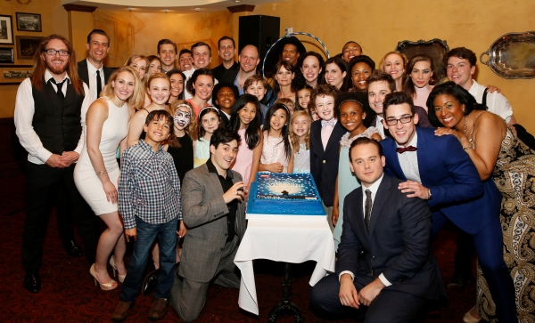 LOS ANGELES, CA - JUNE 7: The company pose during the party for the opening night performance of ''Matilda The Musical'' at Center Theatre Group/Ahmanson Theatre on June 7, 2015, in Los Angeles, California. (Photo by Ryan Miller/Capture Imaging)