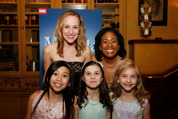 LOS ANGELES, CA - JUNE 7: (L-R) Cast members Gabby Gutierrez, Jennifer Blood, Mia Sinclair Jenness, Ora Jones and Mabel Tyler pose during the party for the opening night performance of ''Matilda The Musical'' at Center Theatre Group/Ahmanson Theatre on Ju