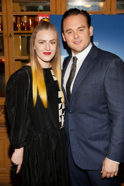 LOS ANGELES, CA - JUNE 7:  Jenn Freeman (L) and cast member Ian Michael Stuart (R) pose during the party for the opening night performance of ''Matilda The Musical'' at Center Theatre Group/Ahmanson Theatre on June 7, 2015, in Los Angeles, California. (Ph