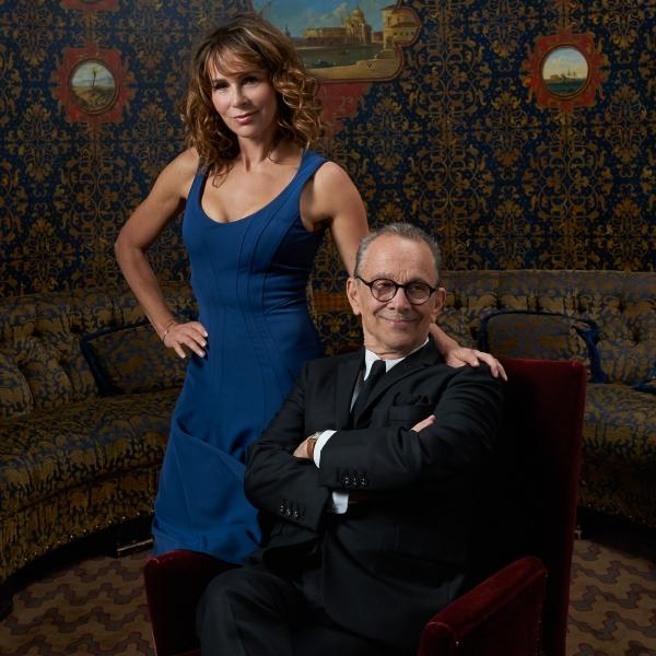 Joel and Jennifer Grey