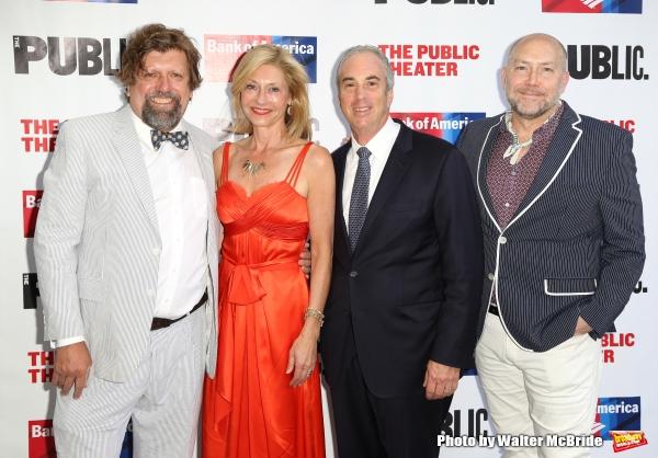 Oskar Eustis, Laurie Eustis, Jeff Barker and Patrick Willingham  Photo