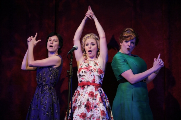 Caitlin McWethy as Rachel Crabbe, Courtney Lucien as Pauline Clench, and Miranda McGe Photo