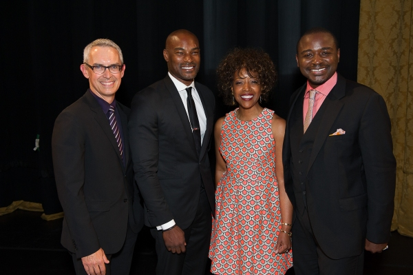 AAADT Executive Director Bennett Rink, Gala Honorary Chair Tyson Beckford, Gala Co-Chair Gina Adams, and AAADT Artistic Director Robert Battle.