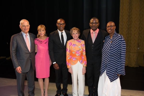 Gala Co-Chairs Eric and Daria Wallach, Gala Honorary Chair Tyson Beckford, Board Member Joan Weill, AAADT Artistic Director Robert Battle and Artistic Director Emerita Judith Jamison.