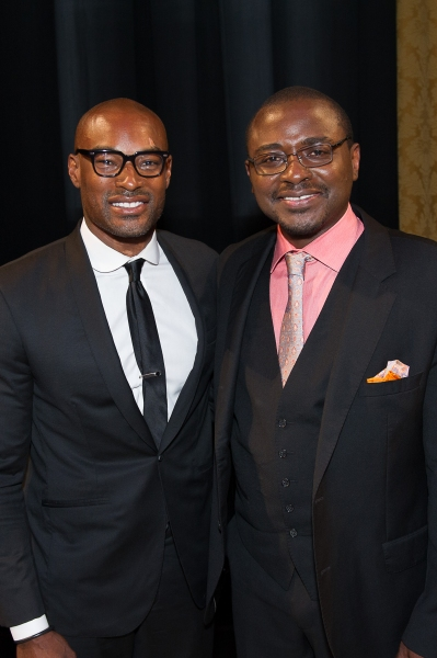 Gala Honorary Chair Tyson Beckford with AAADT Artistic Director Robert Battle.