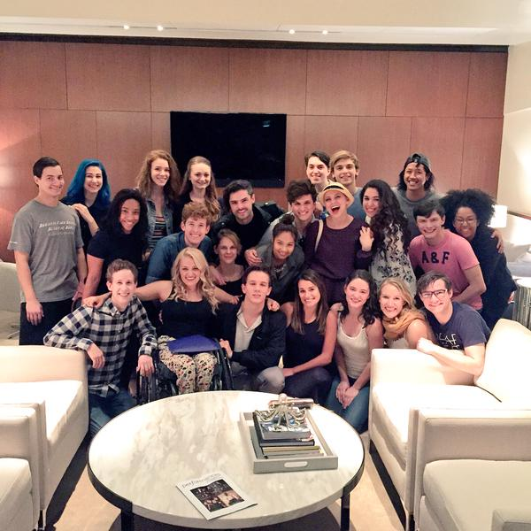 Photo Flash: Lea Michele Supports Deaf West's 'Inspiring' SPRING AWAKENING Cast