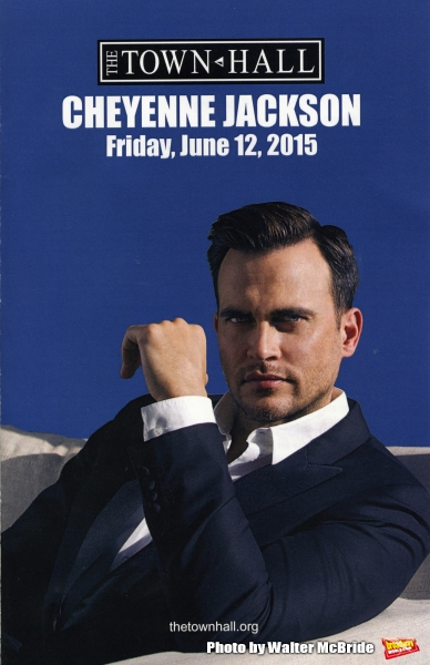 Cheyenne Jackson performing in Concert at Town Hall on June 12, 2015 in New York City.