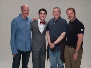 HOW TO SUCCEED REHEARSAL: Neil Meron, Darren Criss, Craig Zadan & Rob Ashford