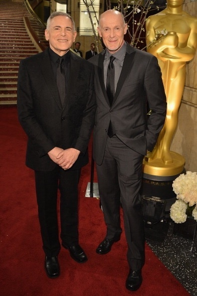 Craig Zadan & Neil Meron walk the red carpet prior to the 85th Oscars telecast.