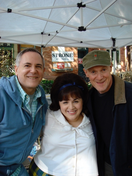 On set for HAIRSPRAY: Craig Zadan, Nikki Blonsky & Neil Meron