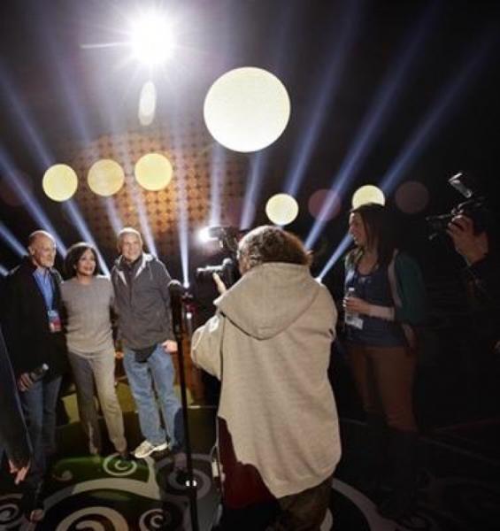 Craig Zadan, Pharrell & Neil Meron at the Oscar Nominees Luncheon.