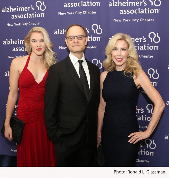 Ashley Campbell, daughter of Country Music Hall of Fame singer-songwriter Glen Campbell; Tony Award winning actor David Hyde Pierce; event honoree Kim Campbell, wife of Country Music Hall of Fame singer-songwriter Glen Campbell