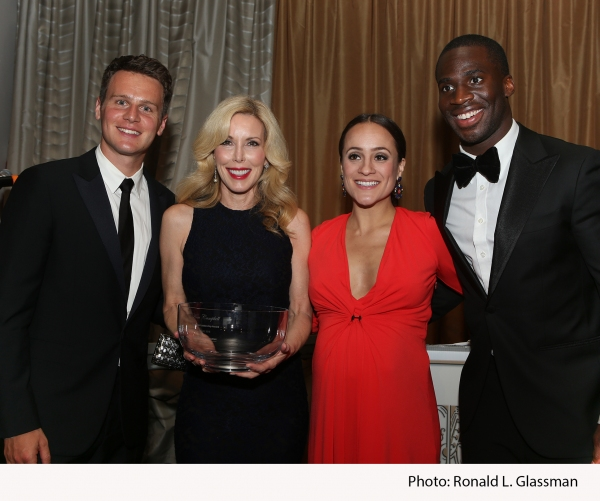 Award-winning actor and event emcee Jonathan Groff; event honoree Kim Campbell, wife of Country Music Hall of Fame singer-songwriter Glen Campbell; Pilar Amukamara; New York Giant star cornerback Prince Amukamara