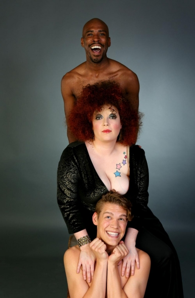 Caitlin Jackson (center) as Bette Midler with by TJ Crawford (top) and Adam Fane (bot Photo