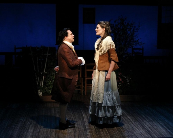 Greg Horton as John Adams and Caitlin Diana Doyle as Abigail Adams perform ''Yours Yours Yours''