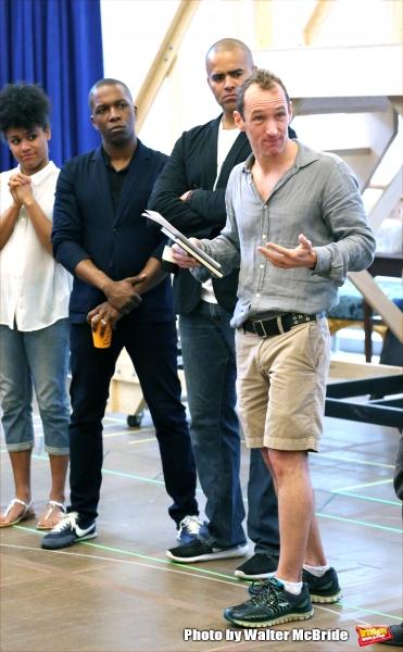 Leslie Odom Jr., Christopher Jackson and producer Jeffrey Seller