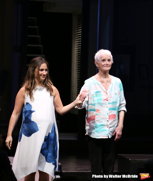 Sas Goldberg and Barbara Barrie  during curtain call at the ''Significant Other'' Opening Night at Laura Pels Theatre on June 18, 2015 in New York City.
