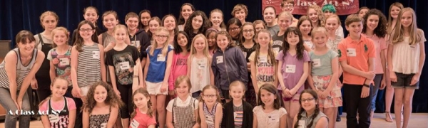 Lilla Crawford with A Class Act NY students